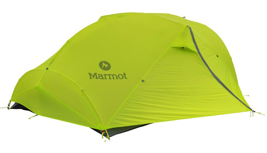 Marmot Force 3P Telt green lime/steel